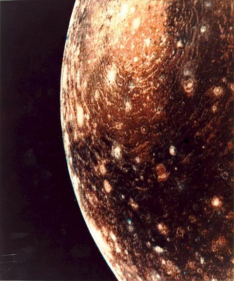Voyager's picture of Callisto