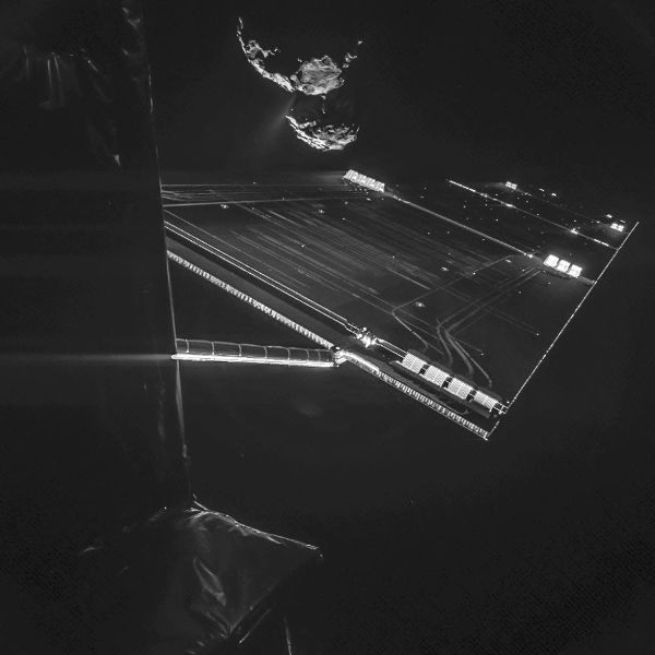 ESA's Rosetta spacecraft takes a selfie
