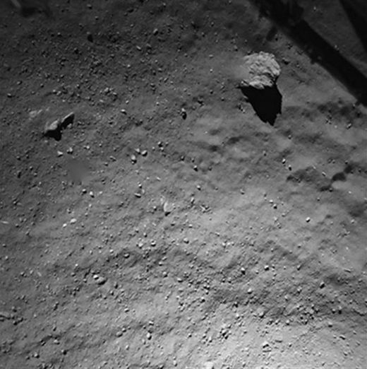 Philae lander took this picture just 130 feet from the comet