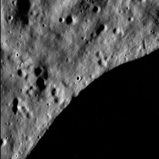 MDIS spots a dark abyss in a crater on Mercury