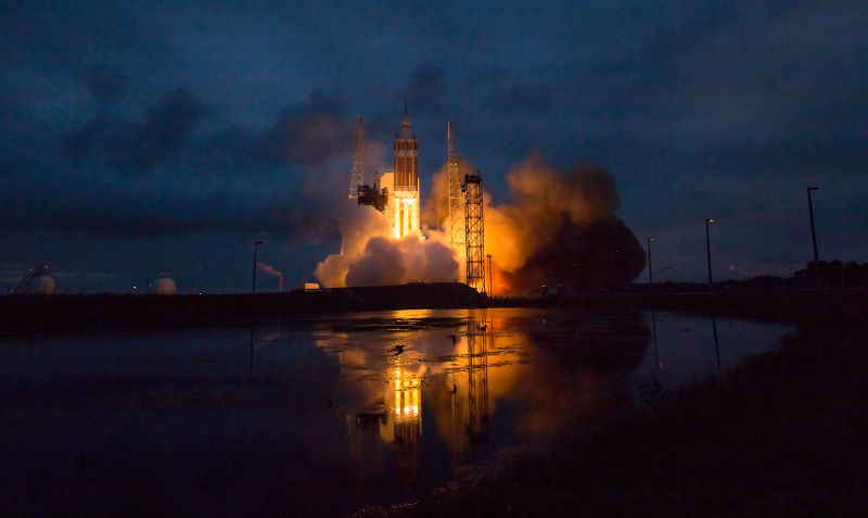 Marvelous setting in Cape Canaveral as the Orion rocket lifts off
