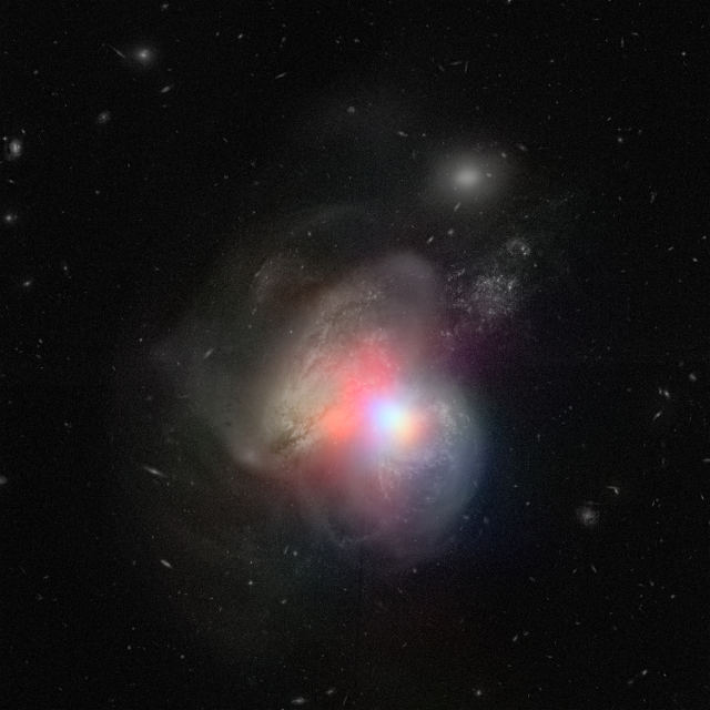 NUSTAR and Hubble look at the collision of two galaxies in Arp 299