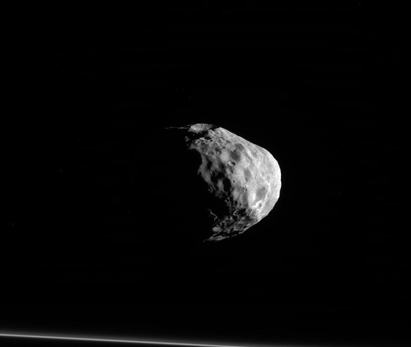 One of planet Saturn's moons Janus
