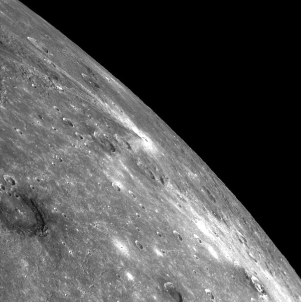 Mercury's Poe, Ailey and Balanchine craters and the Caloris basin