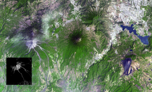 NASA captures the Guatemalan volcano Fuego's eruption