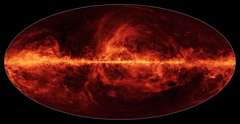 Our Milky Way galaxy is full of dust as seen in this new all-sky map from Planck