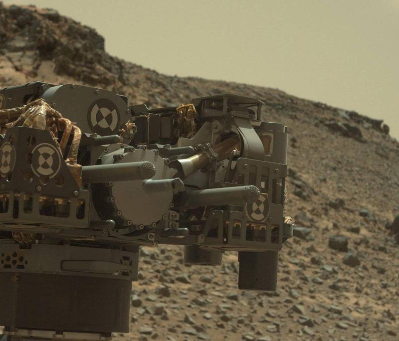 Curiosity rover's drill