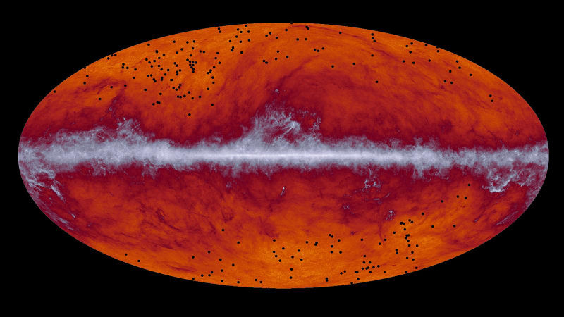 Map of the entire sky created by ESA's Planck mission