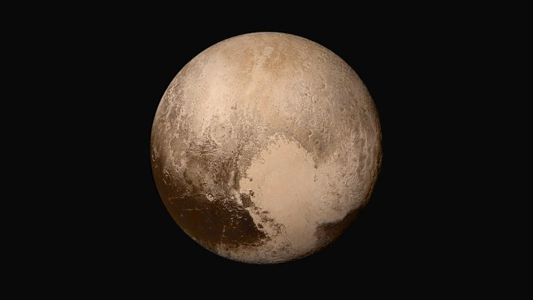 Composite colour image of the dwarf planet Pluto